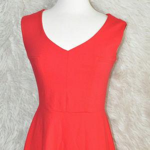 CYNTHIA ROWLEY Womens Stretch Red Skater Dress S